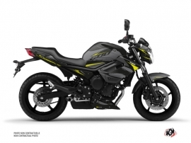 Yamaha XJ6 Street Bike Airline Graphic Kit Black Yellow