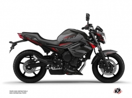 Yamaha XJ6 Street Bike Airline Graphic Kit Black Red