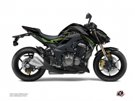 Kawasaki Z 1000 Street Bike Airline Graphic Kit Black Green