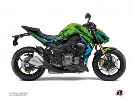 Kit Déco Moto Airline Kawasaki Z 1000 Vert Bleu