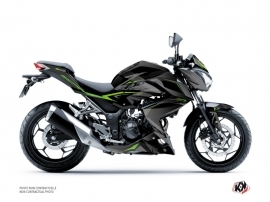 Kit Déco Moto Airline Kawasaki Z 300 Noir Vert