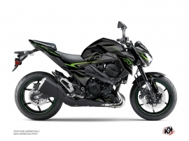Kit Déco Moto Airline Kawasaki Z 800 Noir Vert