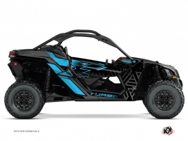 Can Am Maverick X3 UTV Alpha Graphic Kit Black Blue
