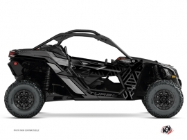 Can Am Maverick X3 UTV Alpha Graphic Kit Black Grey