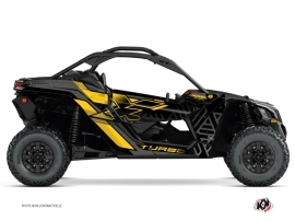 Can Am Maverick X3 UTV Alpha Graphic Kit Black Yellow