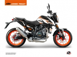 KTM Duke 690 R Street Bike Arkade Graphic Kit Orange White