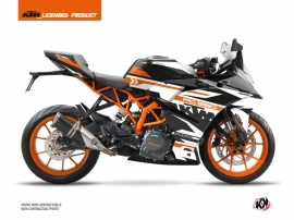 KTM 390 RC Street Bike Arkade Graphic Kit Orange White