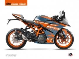 Kit Déco Moto Arkade KTM 390 RC Orange Bleu