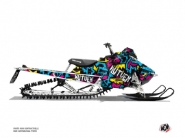 Polaris Axys Snowmobile Aztek Graphic Kit Blue Pink