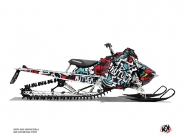 Polaris Axys Snowmobile Aztek Graphic Kit Red Blue
