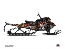 Skidoo Gen 4 Snowmobile Aztek Graphic Kit Grey Orange