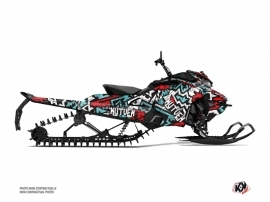 Skidoo Gen 4 Snowmobile Aztek Graphic Kit Red Blue
