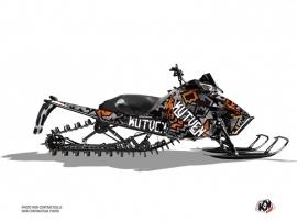 Arctic Cat Pro Climb Snowmobile Aztek Graphic Kit Grey Orange