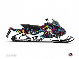 Kit Déco Motoneige Aztek Skidoo REV XP Bleu Rose