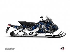 Kit Déco Motoneige Aztek Skidoo REV XP Gris Bleu
