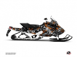 Skidoo REV XP Snowmobile Aztek Graphic Kit Grey Orange