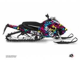 Yamaha Sidewinder Snowmobile Aztek Graphic Kit Blue Pink
