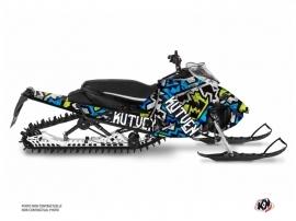 Kit Déco Motoneige Aztek Yamaha Sidewinder Bleu Vert