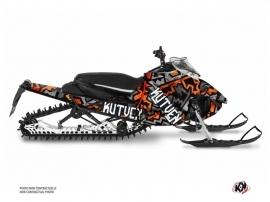 Yamaha Sidewinder Snowmobile Aztek Graphic Kit Grey Orange