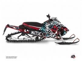 Yamaha Sidewinder Snowmobile Aztek Graphic Kit Red Blue