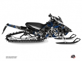 Yamaha SR Viper Snowmobile Aztek Graphic Kit Grey Blue