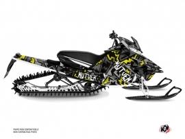 Yamaha SR Viper Snowmobile Aztek Graphic Kit Grey Green