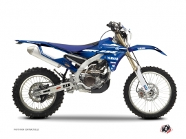 Yamaha 250 WRF Dirt Bike Basik Graphic Kit Blue