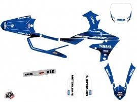 Yamaha 450 YZF Dirt Bike Basik Graphic Kit Blue
