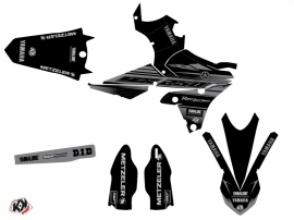 Yamaha 250 YZF Dirt Bike Black Matte Graphic Kit Black LIGHT