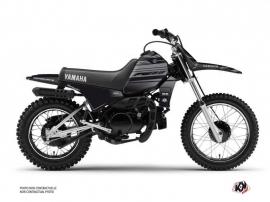 Kit Déco Moto Cross BLACK MATTE Yamaha PW 80 Noir