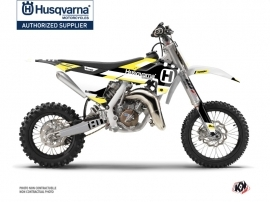 Husqvarna TC 65 Dirt Bike Block Graphic Kit Black Yellow