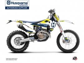 Husqvarna 501 FE Dirt Bike Block Graphic Kit Blue Yellow