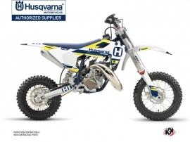 Kit Déco Moto Cross Block Husqvarna TC 50 Bleu Jaune