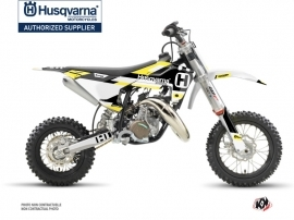 Husqvarna TC 50 Dirt Bike Block Graphic Kit Black Yellow