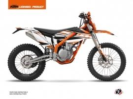 Kit Déco Moto Cross Breakout KTM 250 FREERIDE Orange Blanc