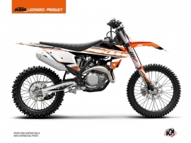 Kit Déco Moto Cross Breakout KTM 300 XC Orange Blanc