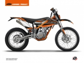 KTM 350 FREERIDE Dirt Bike Breakout Graphic Kit Black Orange