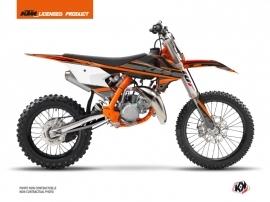 KTM 85 SX Dirt Bike Breakout Graphic Kit Black Orange