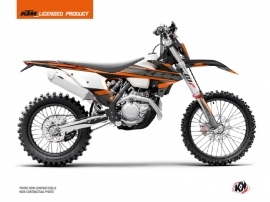 KTM EXC-EXCF Dirt Bike Breakout Graphic Kit Black Orange