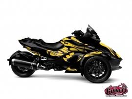 Kit Déco Burn Can Am Spyder RS Jaune