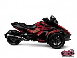 Kit Déco Burn Can Am Spyder RS Rouge
