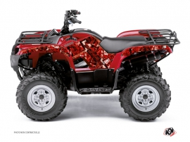Kit Déco Quad Camo Yamaha 350 Grizzly Rouge