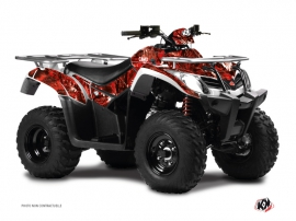Kymco 400 MXU ATV Camo Graphic Kit Red