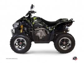 Kit Déco Quad Camo Kymco 450 MAXXER Noir Vert