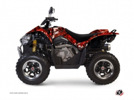 Kymco 450 MAXXER ATV Camo Graphic Kit Red
