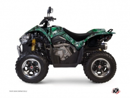 Kymco 450 MAXXER ATV Camo Graphic Kit Green