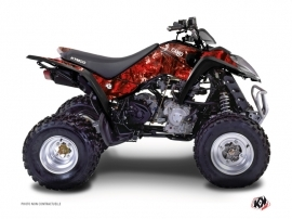 Kymco 90 MAXXER ATV Camo Graphic Kit Red