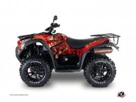 Kymco 700 MXU ATV Camo Graphic Kit Red