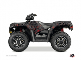 Kit Déco Quad Camo Polaris 550-850-1000 Sportsman Forest Noir Rouge