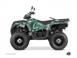 Polaris 570 Sportsman Touring ATV Camo Graphic Kit Green